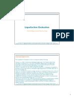 Liquefaction Evaluation