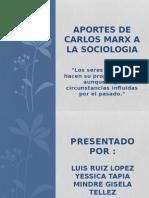 Aportes de Carlos Marx a La Sociologia