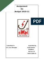 Budget 2010 Impact