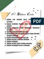 10 Hukum Cinta