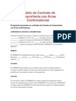 Modelo de Contrato de CompraVenta Con Arras Confirmatorias