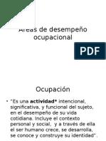 Áreas de Desempeño Ocupacional