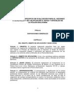 Reglamento de Evaluación 2015 Policía Boliviana