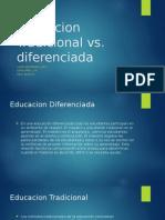 educacion tradicional vs