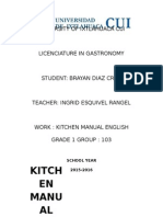 Manual de Ingles de Cocina