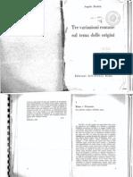 Angelo Brelich Tre Variazione Romane Sul Tema Delle Origini