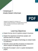 Pertemuan-1 Analis Sistem Informasi