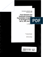 Trace Element and Polycyclic Aromatic Hydrocarbon Analyses of Jet Engine Fuels