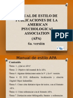 APA. 6a Versión (2013).