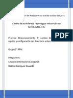 Configurar protocolo TCP/IP y Active Directory