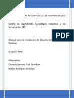 Instalación Ubuntu Server y Ubuntu Desktop
