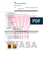 Yuasa Valve Regulated Lead Battery-English