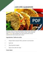 Tacos Com Chili e Guacamole