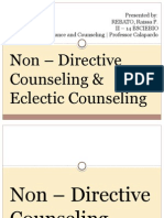 Non - Directive and Eclectic Counseling