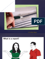 Teaching Report Writing