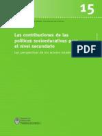 Finnegan, Florencia y Serulnikov, Adriana (2015), Las Contribuciones de Las Políticas Socioeducativas Para El Nivel Secundario