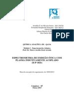 Relatório ICP OES
