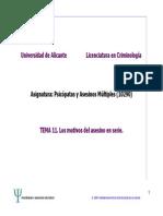 Tema 11. Licenciatura Criminologia - Los Motivos Del Asesino en Serie