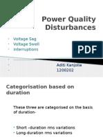 Volatge variation  disturbances in power quality