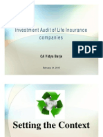 Insurance Investment Audit