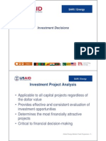 Investment Project Decision Making