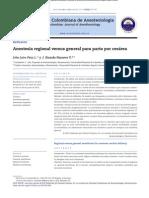 anestesia regional vs general para arto por cesarea