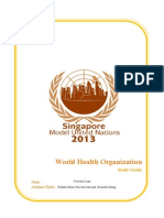 Model United Nations MUN Study Guide for WHO