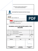 P4068-TD-141 REV B Technical Data for Water Supply for Building