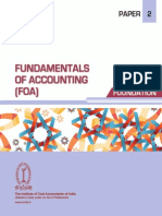 Paper 2 - Fundamentals of Accounting