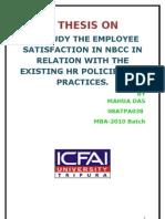 employee satisfaction on NBCC