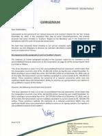 Corrigendum to Annual Accounts 2013