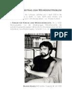 1989 Oliver Kloss - Diskussionsbeitrag zum Wehrdienstproblem