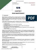 Chapter 7 Road Maintenance