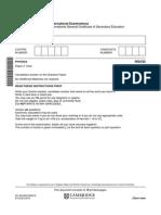 IGCSE 2015 physics paper