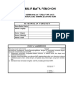 7. Formulir Data Pemohon SKT Migas