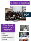 Lecture 5 - Cultures of Teaching