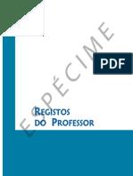 Registos Professor Especime