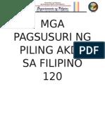 Mga Pagsusuri Ng Piling Akda Sa Filipino 120 (1)