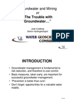 Groundwater and Mining or the Trouble With Groundwater