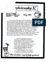 5. Sessions George Ecophilosophy Newsletter 5 May 1983