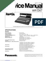 WR - DA7 Manual de Servicio