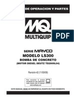 Www.multiquip.com Multiquip Pdfs Pumps Concrete Masonry Hydraulic Swing Tube Mayco LS300 Spanish Rev 2 Manual DataId 18866 Version 1