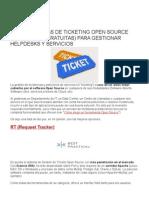 8 Herramientas de Ticketing Open Source (Totalmente Gratuitas) Para Gestionar Helpdesks y Servicios
