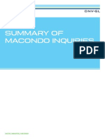 SUMMARY OF MACONDO INQUIRIES