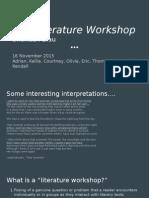 literature workshop presentation