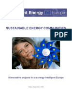 Intelligent Energy - SUSTAINABLE ENERGY COMMUNITIES - 8 innovative projects for an energy-intelligent Europe