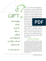 what gift  the reality of gifted in public ed
