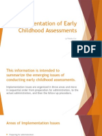 implementation of early childhood assessments