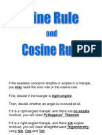 Sine and Cosine Rule