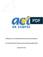 VSM Submission By ACT on Campus